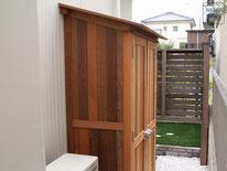 木製物置、収納庫、オーダーメイド、イタウバ、施工例