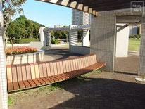 木製ベンチ、施工例
