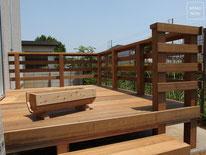イタウバ、サイプレス、フェンス、ウッドデッキ、施工例