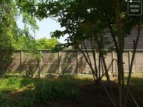 イタウバ、ウッドフェンス、目隠しフェンス、セランガンバツー、植栽、オスモカラー、施工例
