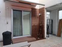 イタウバ、フェンス、樹脂デッキ、人工木、水栓、シャワー、施工例