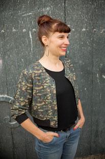 Bomber femme gingko moutarde - Elanka