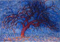 『赤い木』(1908年)