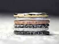 Stapelringe Silberring Silberschmuck