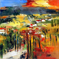 """""""Campagne yellow"""" - 25x25"""