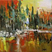 """Lac aux pins"" - 20x20"
