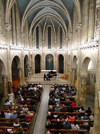 Concert du pianiste Th. Guillois à Créhen - Chapelle des religieuses
