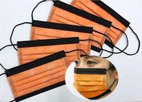国産 オレンジ(橙)×ブラック(黒) 5枚入り