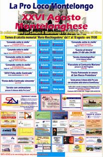 Calendario agosto Monteloghese