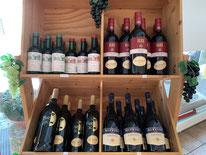 Weinangebot in der Metzgerei Am Krandl