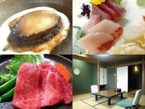 日本海の幸や鳥取和牛を部屋食で