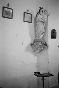 jeromedevismes. la statut de la vierge dans l'église de Muna en Corse