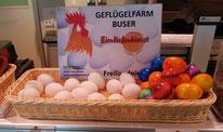 Eier roh, Eier gekocht, Hauslieferdienst Aarau, Buchs ag, Umgebung