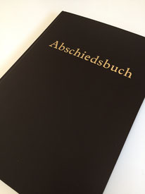 Abschiesbuch, Kondolenzbuch, Kondolenzbuch aus der Papierwerkstatt Hamburg