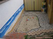 Garten Idee Strand und MeerOptik, kreativ, Sandkasten