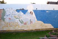 Santorini Meer Aida Wandbild