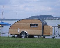 Mini Caravan Woody zum Reisen