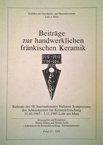 fränkische Keramik 18. Hafnerei Symposium