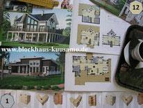 Blockhäuser - Entwürfe - Planung - Skandinavische Holzhäuser - Entwürfe - Typenhäuser - Bausatz - Architektenzeichnungen