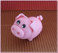 Tutoriel pour modeler un petit cochon, cake design, pâte à sucre