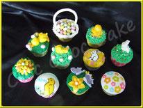 cupcakes de pâques idée déco pate à sucre, chic choc cake boutique en ligne cake design et patisserie pas cher