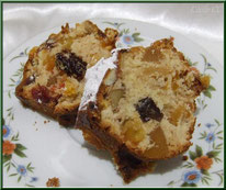 Gâteau de Noël aux fruits secs et aux fruits confits