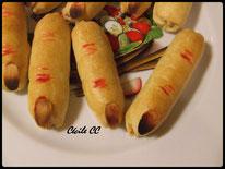 recette et tutoriel pour réaliser des doigts de sorcière avec de la pâte brisée et des saucisses pour halloween, knaki
