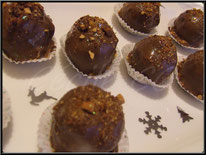 Recette des rochers praliné pour noel, recette chocolat noel
