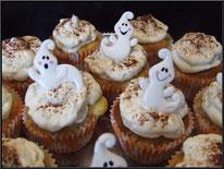 Recette des cupcakes à la poire, recette topping poire, cake design, boutique en ligne, pâtisserie, fantômes, halloween