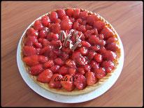 recette de la tarte aux fraises