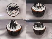 cupcake, tutoriel, cake design, araignée, pâte à sucre, halloween