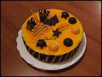 recette entremet mandarine chocolat pour noel