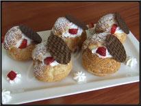 recette des choux fraises et chantilly