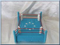 Tutoriel pour réaliser un gâteau 3D en forme de ring de boxe, cake design, tutoriel