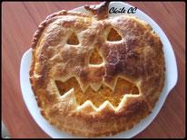 tutoriel pour faire un tourte au potiron en forme de citrouille pour Halloween