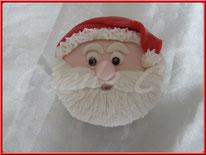 Tutoriel pour décorer un cupcake en forme de tête de Père Noël, noel, cake design, pâtisserie, cécile cc, boutique en ligne, chic choc cake