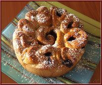 brioche bouclette pâte à tartiner, nutella