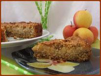 recette gâteau pommes et flocons avoine