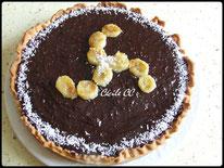 Recette de la tarte banane chocolat et noix de coco