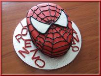 Tutoriel pour réaliser un gâteau en forme de tête de spiderman, pâte à sucre, cake design