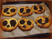 recette des bretzels sucrés fourrés crème pâtissière chocolat
