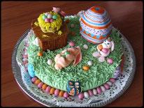 gâteau lapins de paques, boutique en ligne cake design et pâtisserie pas cher