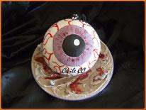 Tutoriel pour faire un gâteau 3D en forme d'oeil pour Halloween, cake design, pâtisserie