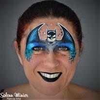 solenn minier maquilleuse professionnelle face painting maquillage batman rennes bretagne