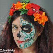 solenn minier maquilleuse professionnelle face painting maquillage halloween skull calaveras mexique rennes bretagne