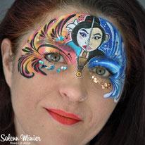 solenn minier maquilleuse professionnelle face painting maquillage mulan disney rennes bretagne