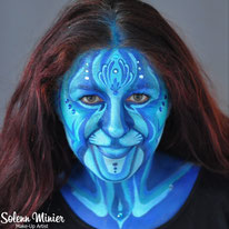 solenn minier maquilleuse professionnelle face painting maquillage avatar bleu rennes bretagne