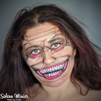solenn minier maquilleuse professionnelle face painting maquillage halloween creepy rennes bretagne