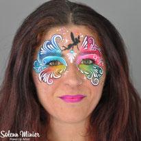 solenn minier maquilleuse professionnelle face painting maquillage fée fairies mask masque teardrops gouttes rennes bretagne