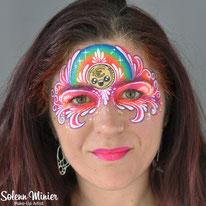 solenn minier maquilleuse professionnelle face painting maquillage euro arc en ciel rainbow mask teardrops gouttes rennes bretagne